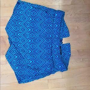 Blue patterned skort